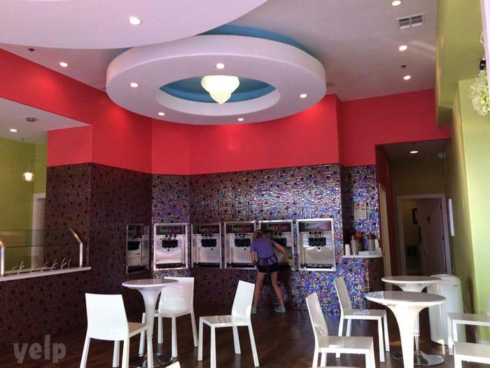 Farrah Abraham Froco Fresh Frozen yogurt restaurant interior