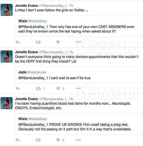 Jenelle Evans pregnant tweets