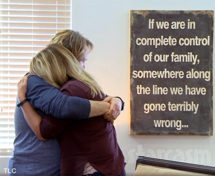 Sister Wives Kodi Brown and wife Meri hugging