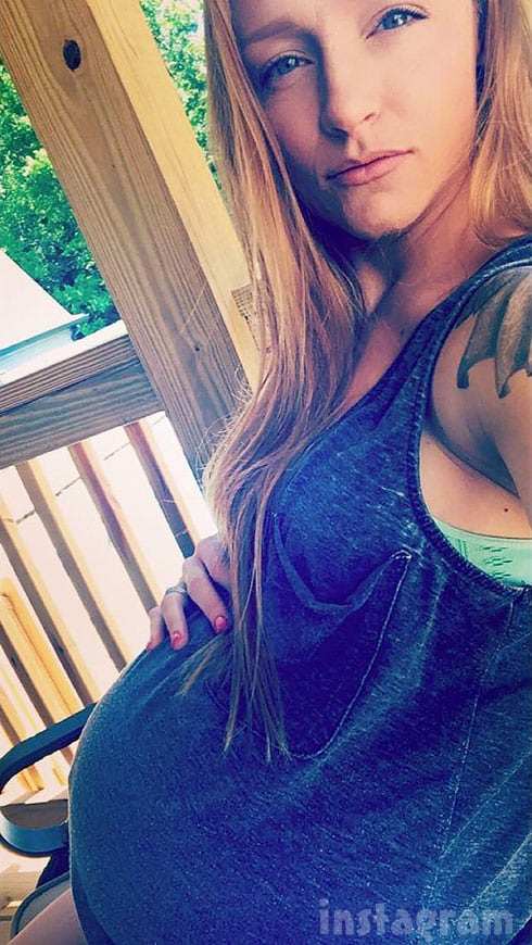 Maci Bookout pregnant baby bump 9 months 2016