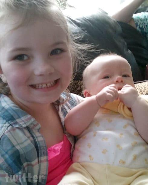 Matt McCann's son and sister Arabella together
