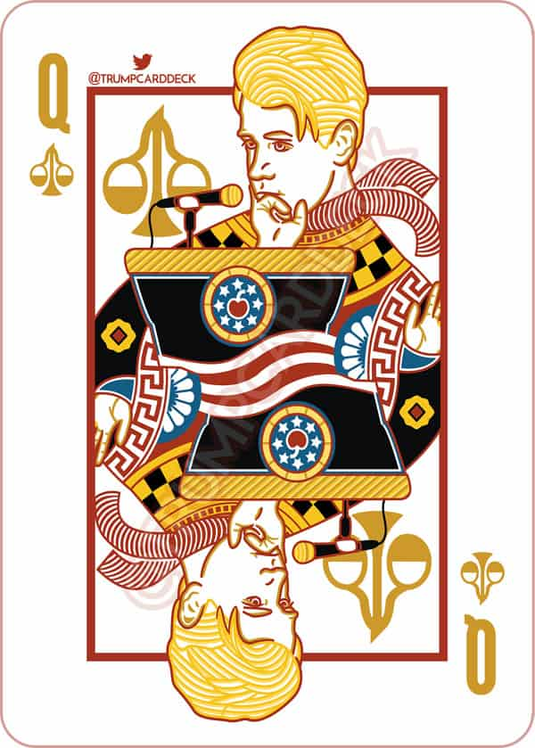 Milo Yiannopoulos Trump playing card