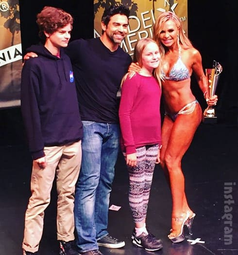 Tamra Judge family photo at fitness competition
