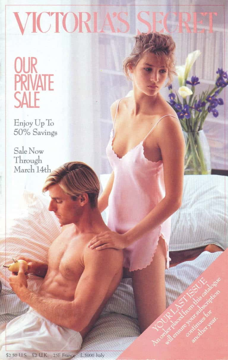 Victoria's Secret catalog cover with a man