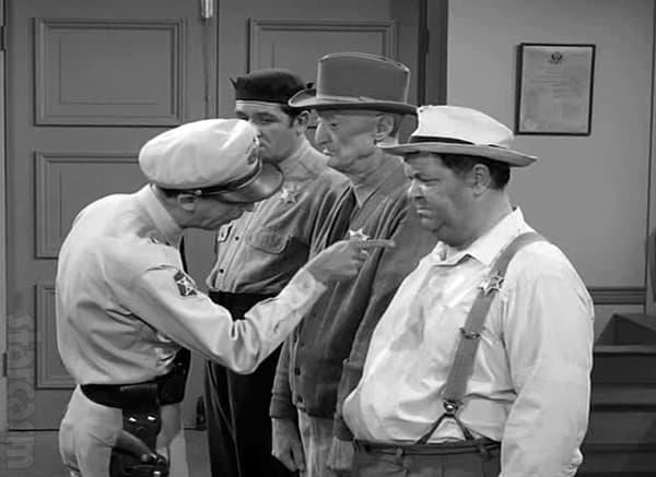 Andy Griffith Barney Fife Otis deputized