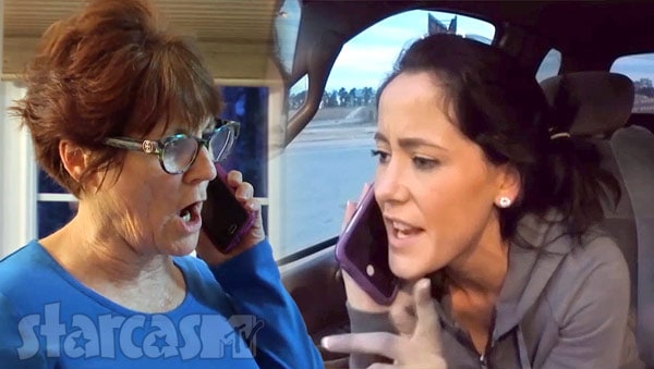 Teen Mom 2 Babs Barbara Evans and Jenelle Evans arguing on the phone