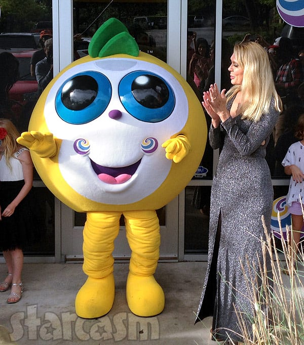 Debra Danielsen Michael Abraham Froco Coba mascot costume