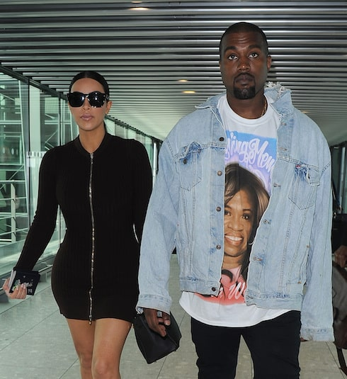 Kim Kardashian and Kanye West arrive at Heathrow Airport, after spending the weekend in London Featuring: Kim Kardashian, Kanye West Where: London, United Kingdom When: 22 May 2016 Credit: Will Alexander/WENN.com