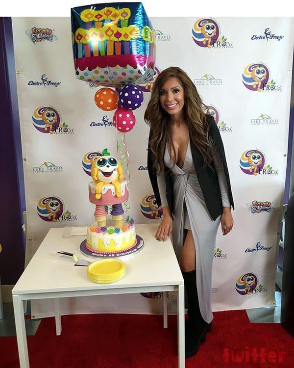 Farrah Abraham Froco birthday cake