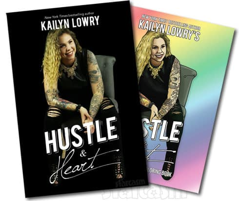 Kail Lowry Hustle Heart Plus Adult Coloring Book Covers And
