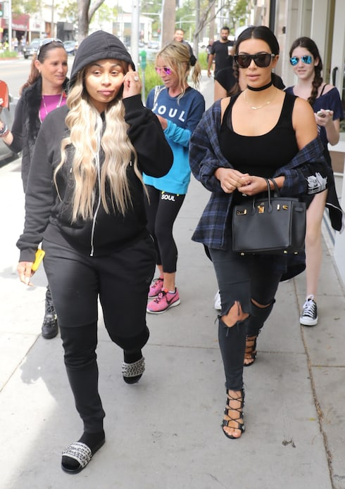 Kim Kardashian, Rob Kardashian, and Blac Chyna have lunch at Nate'n Al's in Beverly Hills Featuring: Kim Kardashian, Blac Chyna Where: Los Angeles, California, United States When: 26 Apr 2016 Credit: WENN/Reflector