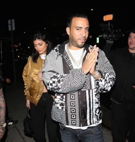 French Montana drives Kylie Jenner's red Rolls Royce as they arrive to The Nice Guy Club together to party in West Hollywood. Pictured: Kylie Jenner and French Montana Ref: SPL1300826 130616 Picture by: Photographer Group / Splash News Splash News and Pictures Los Angeles: 310-821-2666 New York: 212-619-2666 London: 870-934-2666 photodesk@splashnews.com