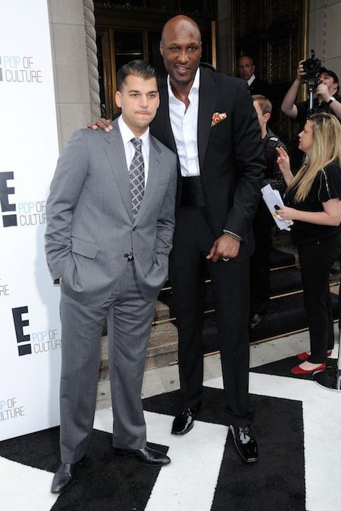 Rob Kardashian and Lamar Odom 2012 'E' upfront presentation - Arrivals Featuring: Rob Kardashian and Lamar Odom Where: New York City, United States When: 30 Apr 2012 Credit: WENN