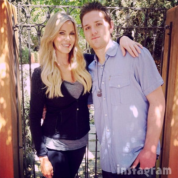 Real Housewives of Orange County Lauri Peterson and son Josh Joshua Waring together
