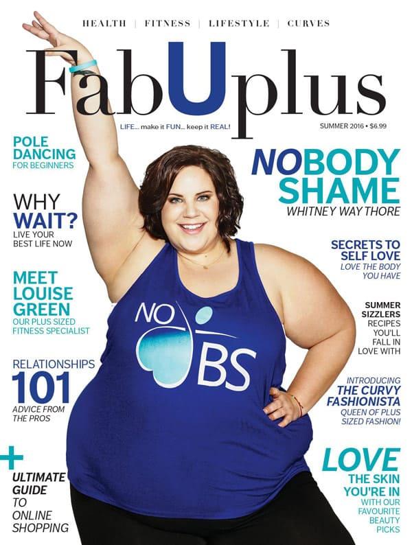 Whitney Thore FabUplus magazine cover