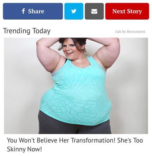 My Big Fat Fabulous Life Whitney Thore weight loss ad