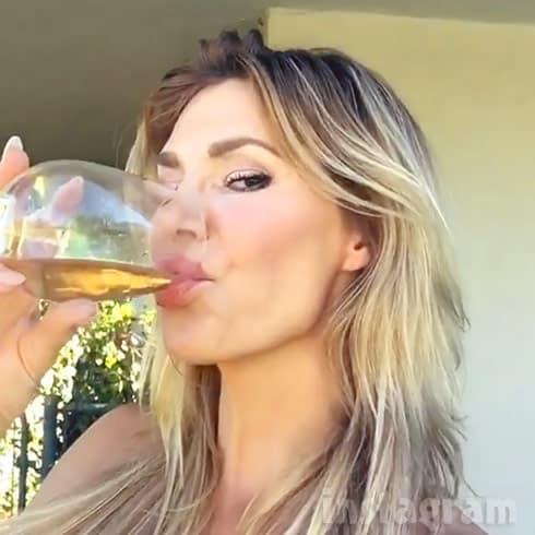 Brandi Glanville drinking