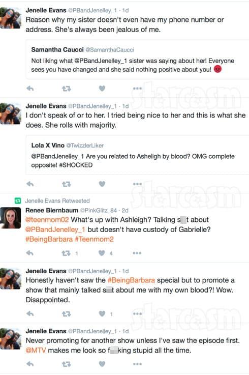 Jenelle Evans Being Barbara special tweets