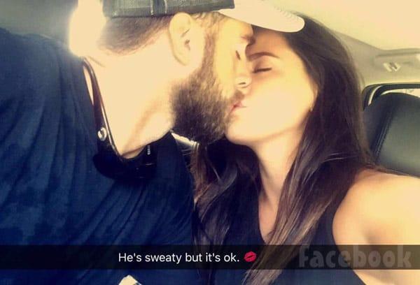 Jenelle Evans David Eason sweaty kissing