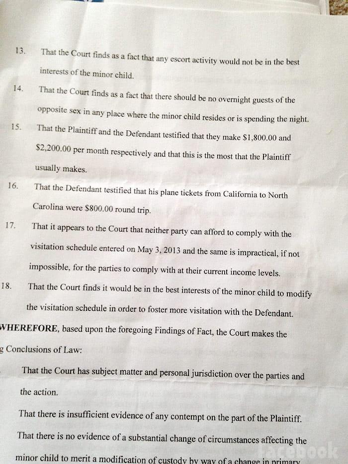 Jenelle Evans sister Ashleigh court document
