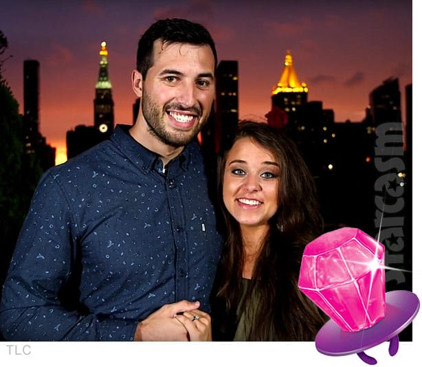 Jeremy Vuolo Jinger Duggar engaged ring pop