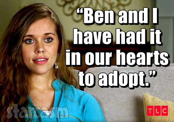 Jessa Seewald adoption plans