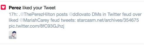 Perez Hilton liked Starcasm tweet