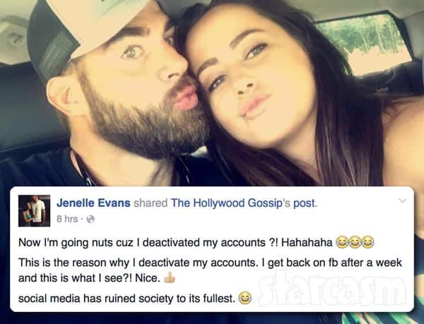 Pregnant Jenelle Evans David Eason Facebook
