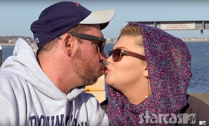 Amber Portwood kissing Matt Baier