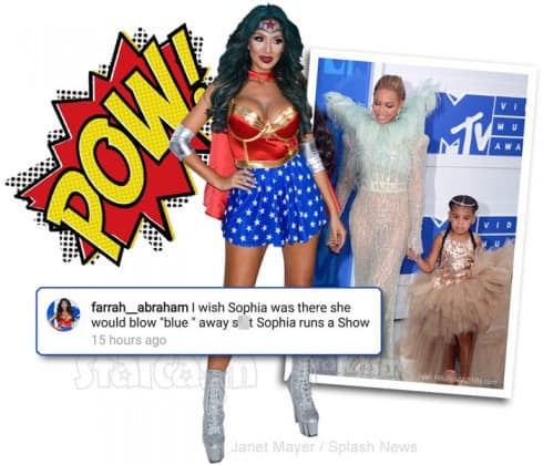 Farrah Abraham Blue Ivy Carter Instagram comment