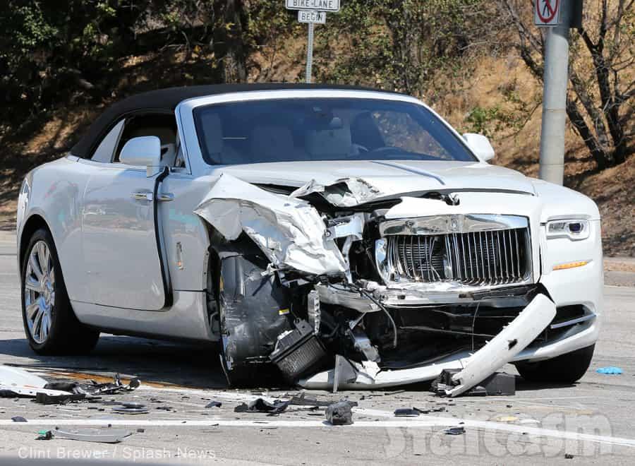 Kris Jenner Rolls Royce crash