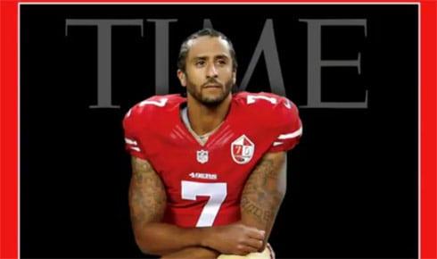 Colin Kaepernick Time Magazine cover kneeling