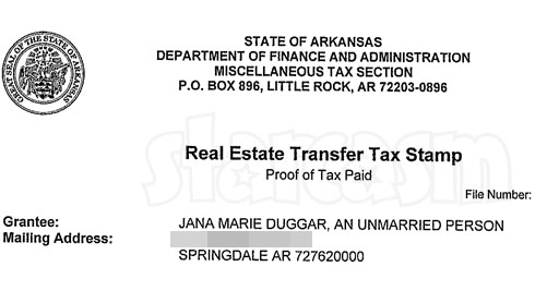 Jana Duggar tax document property purchase