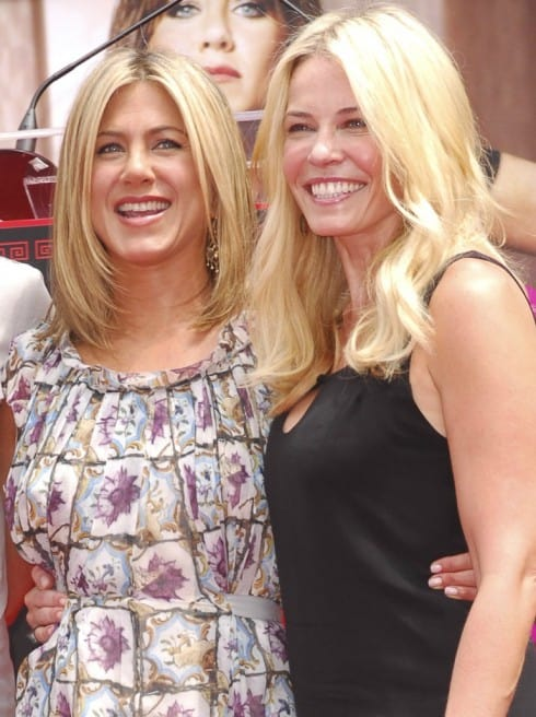 Jennifer Aniston and Chelsea Handler