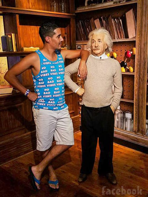 Mohamed Jbali No Bad Vibes tank top Einstein