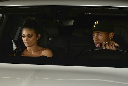 Kylie Jenner and Tyga Leave Jordyn Woods Party