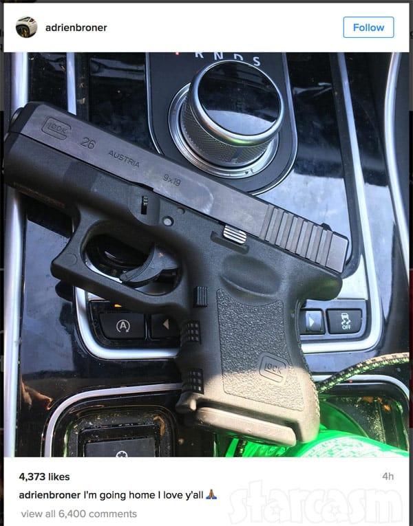 Adrien Broner suicide gun photo