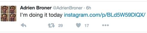 Adrien Broner suicide tweet