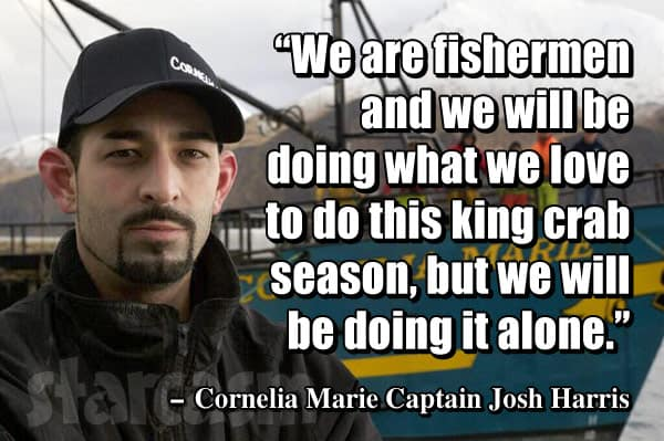 Cornelia Marie Josh Harris leaving Deadliest Catch