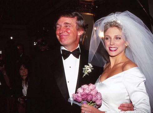 Donald Trump Marla Maples Wedding from 1993