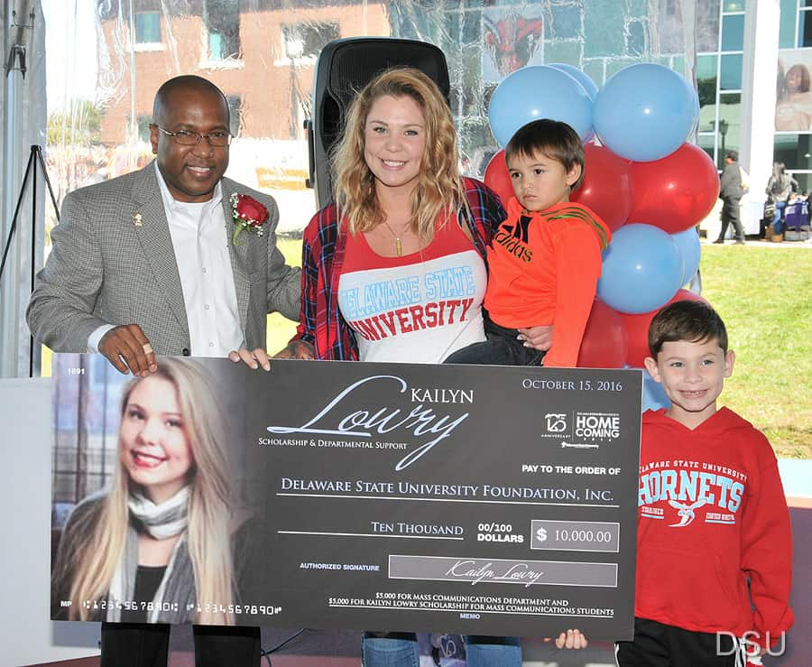 Kail Lowry scholarship check Delaware State University
