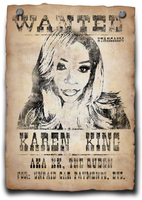 lhhatl karen king wanted by police for missed maserati car payments. Black Bedroom Furniture Sets. Home Design Ideas