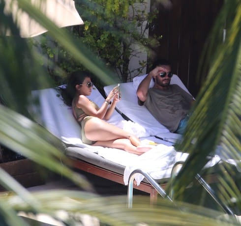 Kourtney Kardashian and Scott Disick in Miami Beach