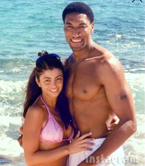 Larsa and Scottie Pippen throwback photo