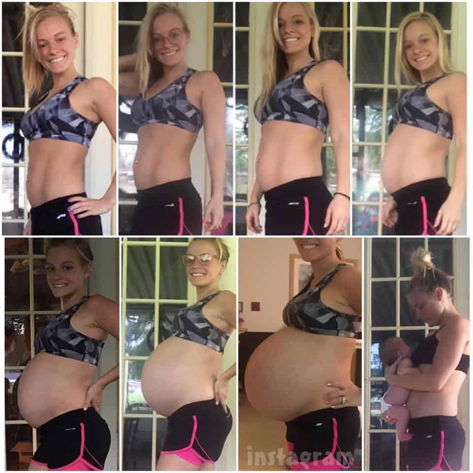 Mackenzie McKee baby bump timeline Broncs