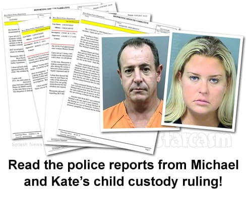 Read the police reports from Michael and Kate's child custody ruling!