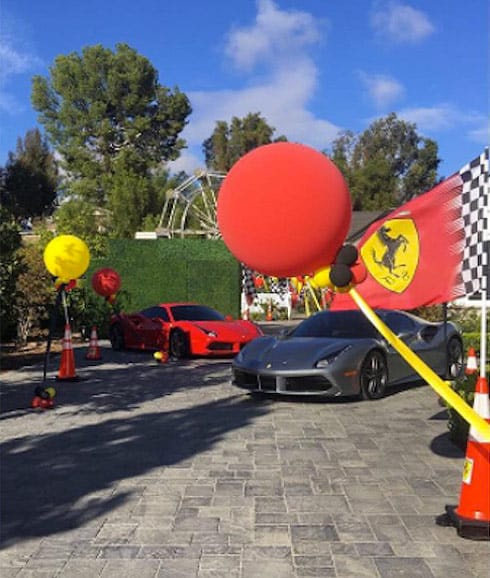 Kylie even had real Ferraris on hand for Tyga's son King Cairo's birthday party
