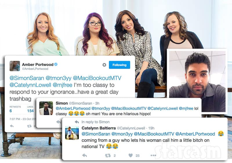 Teen Mom OG cast and Simon Saran feud on Twitter