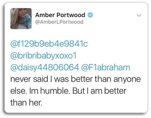 Amber Portwood Farrah Abraham feud tweet