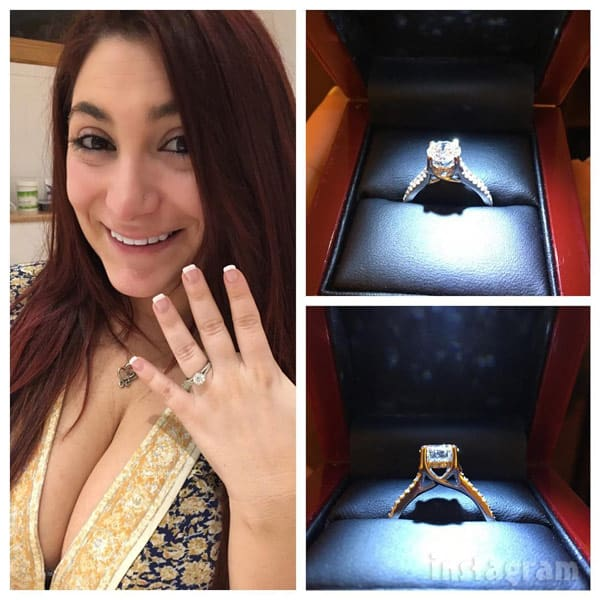 Deena Cortese engagement ring